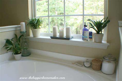 Bathtub Decorating Ideas - decorating around a bathtub the happier homemaker