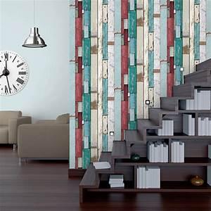 Décolleuse De Papier Peint : papier peint intiss planches multicouleur leroy merlin ~ Dailycaller-alerts.com Idées de Décoration