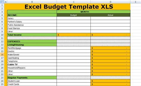 free excel budget template xls xlstemplates