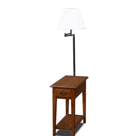 narrow end tables amazon com leick chair side end table medium oak finish