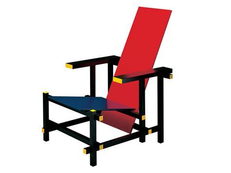 cassina rood blauwe stoel rietveld originals meubel