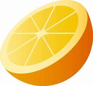 Juicy Orange Half Slice - Free Clip Art