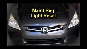 Maintenance Required Service Light Reset  Honda