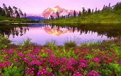 Colorful Nature Lake Mountain Paradise Sky Desktop