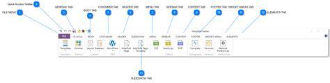 main interface templatetoaster web design software