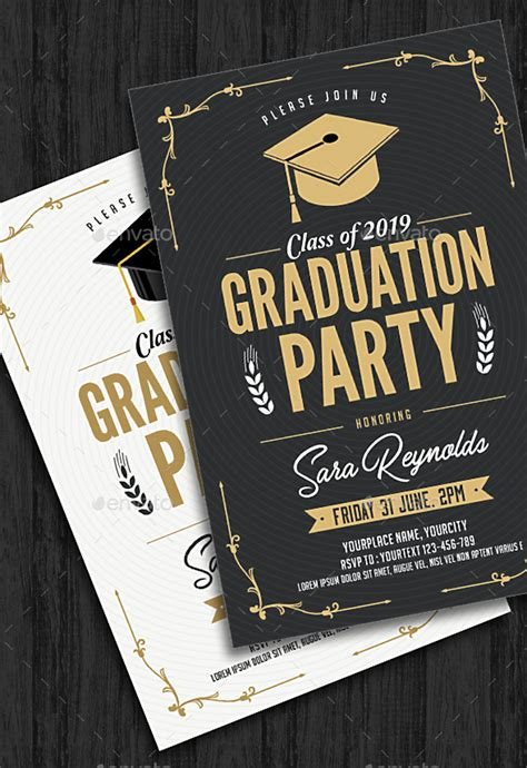 graduation invitation card designs psd ai word
