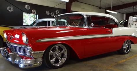 1956 chevy belair hot rod american classic cars hot cars