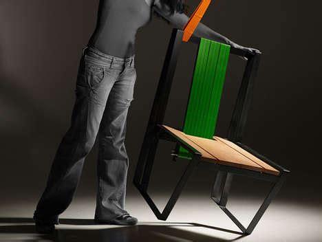 creepy wearable furniture human chair