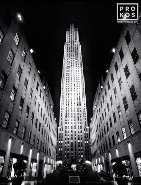 Rockefeller Center At Night (b&w)  Fine Art Photo