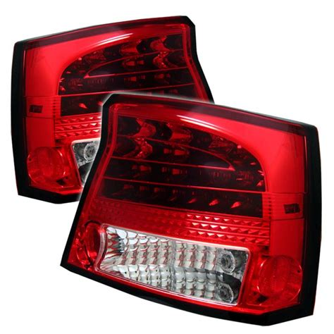 2007 dodge charger tail lights 2006 2008 dodge charger led red clear tail lights