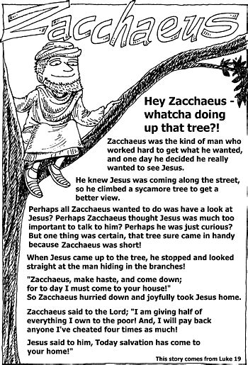 zacchaeus bible story coloring pages sunday school 794 | 5b6edaffb757eb528ca15606e4542176