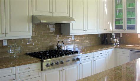 White Glass Subway Tile Backsplash Home Design Jobs