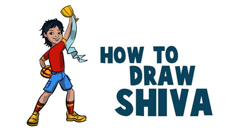 How To Draw Shiva Cartoon In Krita