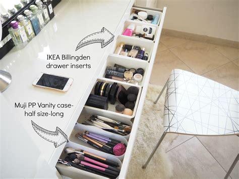 My Make Up Storage/vanity/bedroom Tour Expat Make Up Addict-make Up Storage Ideas-ikea Malm