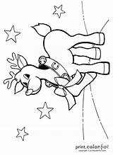 Jingle Bells Reindeer Coloring Printcolorfun sketch template