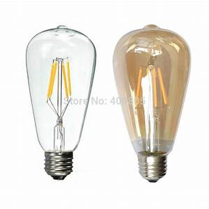 Vintage light bulb e w led bulbs lamps glass