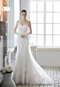 robe de mariee blanche bustier en coeur avec lacets de With robe bustier coeur