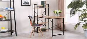 Bureau Bois Metal : bureau en bois rectangulaire erevan ~ Teatrodelosmanantiales.com Idées de Décoration