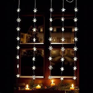 Lichtervorhang Innen Fenster : led lichtervorhang 40x led schneeflocken lichterkette fenster innen au en deko ebay ~ Orissabook.com Haus und Dekorationen