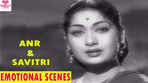 Anr And Savitri Best Emotional Scenes || Manchi Manasulu