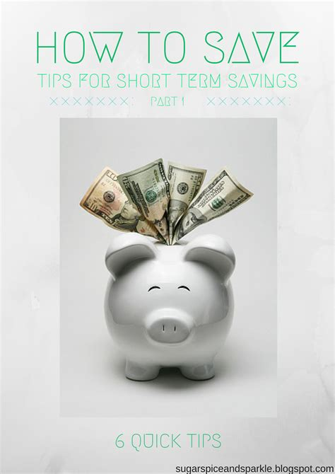 How To Save Money Part 1 Short Term Sugar Spice And