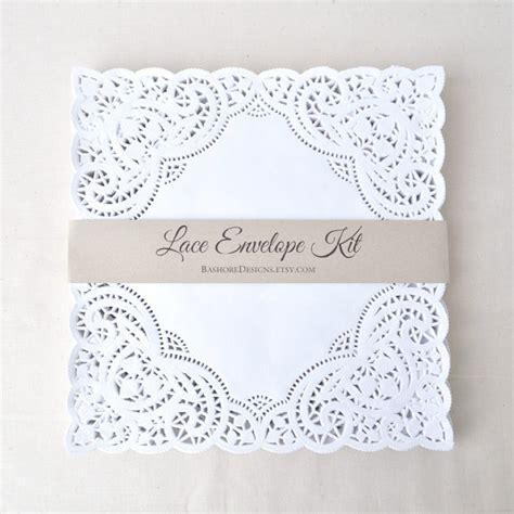 lace wedding diy lace envelope kit 2232104 weddbook