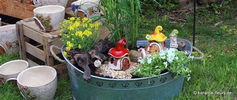 Pflanzen Für Miniaturgarten by Miniaturgarten Keramik F 252 R Haus Und Garten