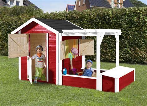 kinderspielhaus mit sandkasten kinder holz spielhaus weka 171 tabaluga drachenh 246 hle inkl sandkasten pergola und schatztruhe
