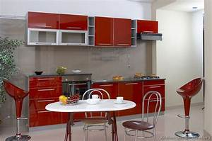 pictures of kitchens modern red kitchen cabinets page 2 With grey and red kitchen designs