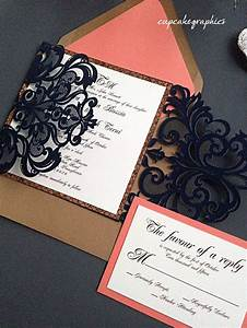 best 25 coral navy weddings ideas on pinterest navy With handmade wedding invitations by carol