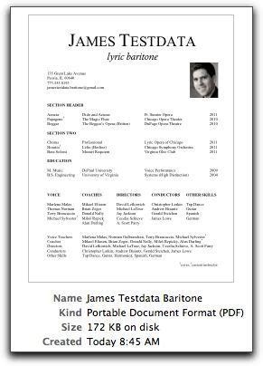 Performance Resume Template by Velvet Singer Resume Template Resume Advice Performance