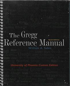 The Gregg Reference Manual Tenth Edition