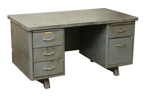 5 Drawer Desk - steel tanker desk with five drawers olde things