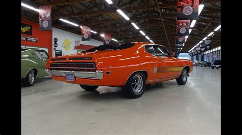 ford torino gt  calypso coral orange  engine