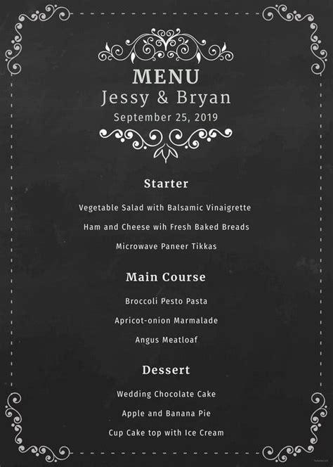 menu card templates   word psd  eps