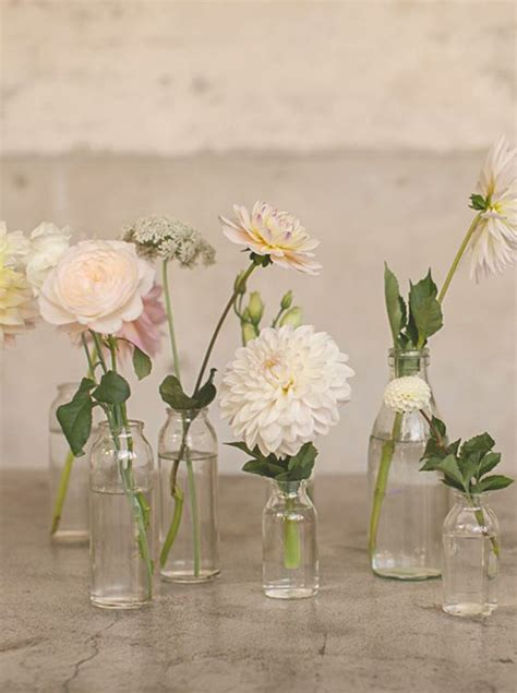 Flowers In Small Vases by Magnolia Wedding Decor Wedding Details Bud