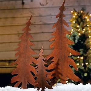 Holz Deko Für Draußen : tannenbaum stecker set rost 3 tlg gingar weihnachtsdeko deko christmastree weihnachts ~ Eleganceandgraceweddings.com Haus und Dekorationen
