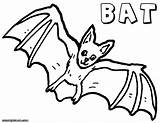 Bat Coloring Pages Cute Animal Print Colorings sketch template