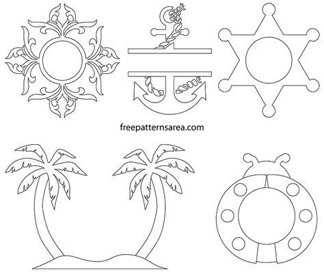 svg monogram frame designs freepatternsarea
