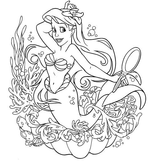 Coloring Disney Princess Coloring Book Page by Disney Princess Colouring Only Coloring Pages