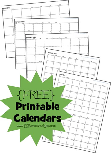 homeschool printable calendars homeschool deals