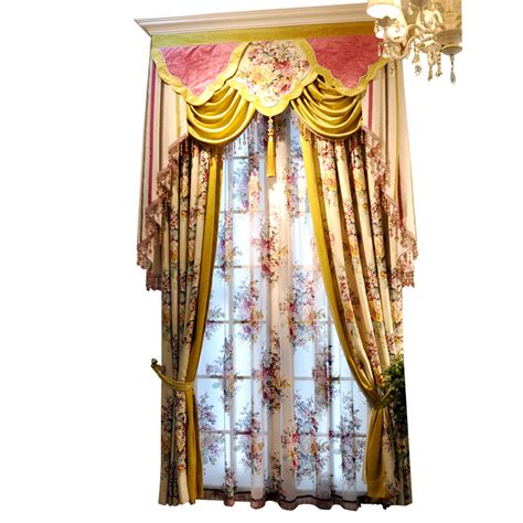 yellow floral drapes yellow floral print poly cotton blend pastoral custome
