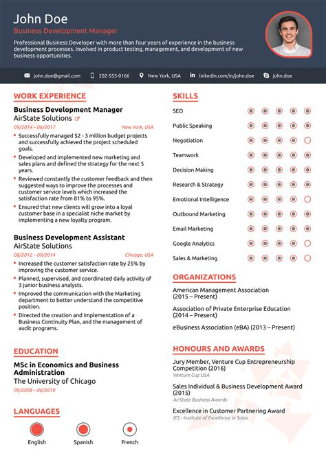 If you've just left college or university, then you obviously have less information to include on a cv, meaning the performance cv is a challenge to write. Free One-Page Resume Templates Free Download