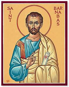 St Barnabas - Icon & Brief Bio