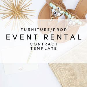 furniture prop event rental contract template