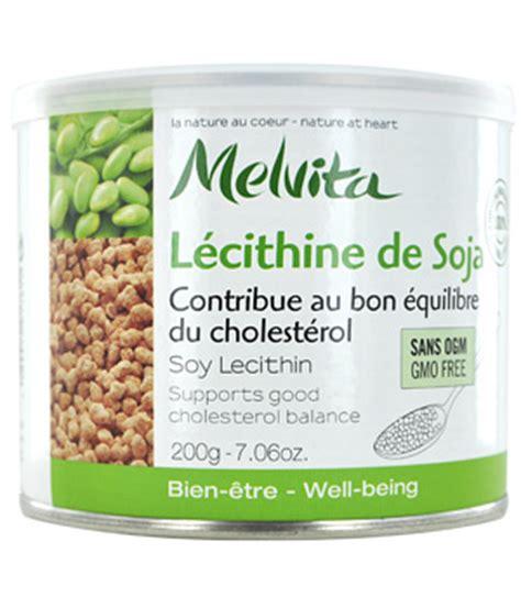 ancien lecithine de soja contribue au bon equilibre du cholesterol melvita 200gr