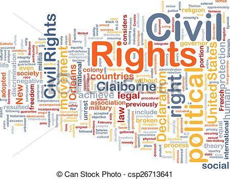 civil rights wordcloud concept illustration background