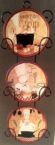 peacock bistro cafe wall plate rack set interior kitchen accent  pc home decor ebay
