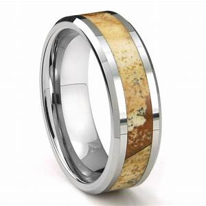 tungsten carbide igneous riverstone inlay wedding band ring With inlay wedding rings