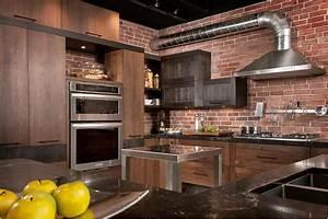 Cuisine Industrielle Ikea : loft cuisine bois noyer fr ne quartz ~ Dode.kayakingforconservation.com Idées de Décoration
